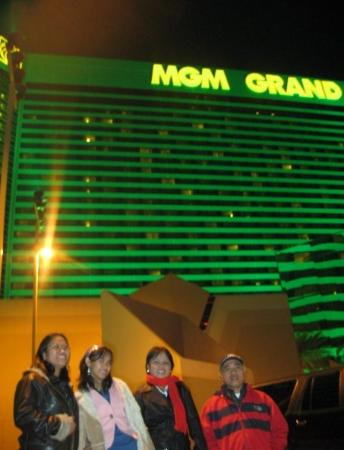 Signature at MGM Grand: In front of the MGM Grand Hotel & Casino where we met my Aunt Linda & my uncle Bob