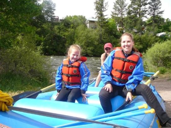 Roaring Fork Valley: Jenny and Bekah getting ready to raft