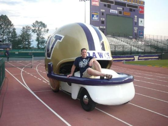 University of Washington: Snuck into Husky Stadium the night before the game