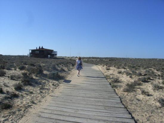 Almancil, Portugal: the walk to the beach from the hotel
