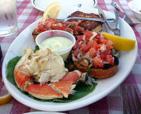 Pompei's Grotto: Crab appetizer