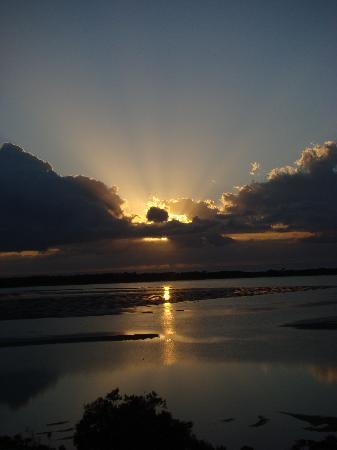Moorings Beach Resort : Sunrise from the balconey