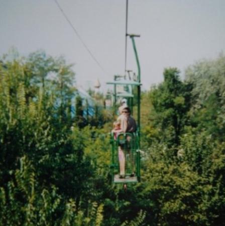 Castelnuovo del Garda, Italy: teen in Gardaland, Italy, with bro