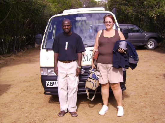 Mara Simba Lodge: With Somak driver, Adoyo