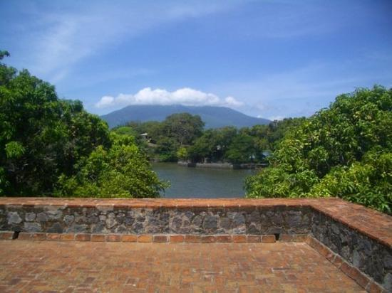 Islets of Granada : Volcano Mompache taken from the fort in Las Isletas.