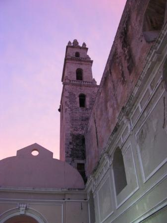 Merida Cathedral at sunset.