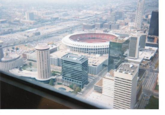 View From Inside The Arch Of St Louis Below Is Busch Stadium I