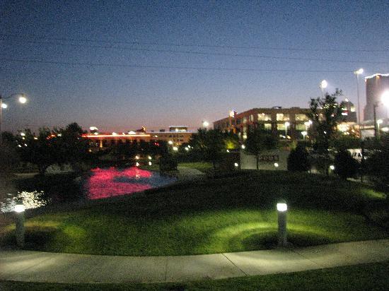 riverwalk at night picture of residence inn oklahoma. Black Bedroom Furniture Sets. Home Design Ideas