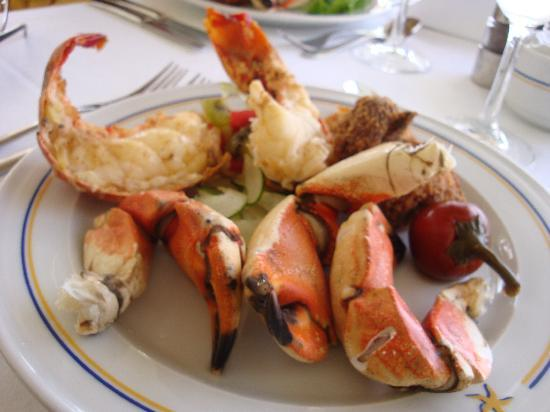 Iberostar Grand Hotel Rose Hall: Lobster and stone crab