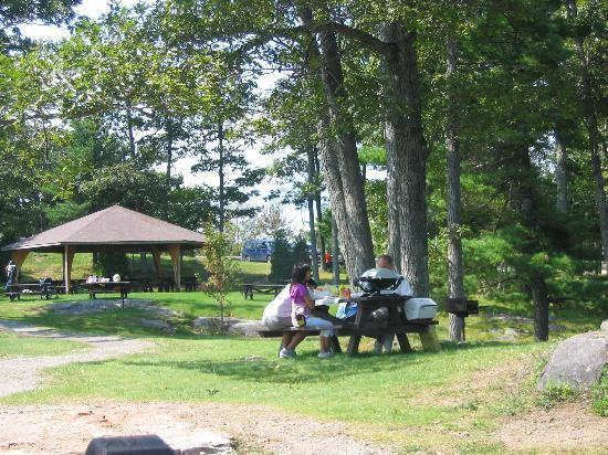 Prospect Mountain: picnic area with charcoal grills for your use