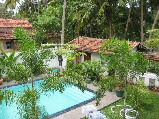 SANKAREST Villa: View from the upstair veranda on the pool