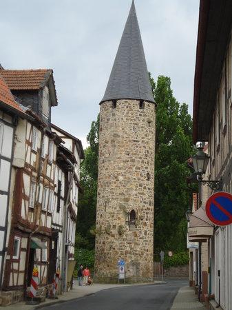Melsungen, Tyskland: angolo storico della borgata