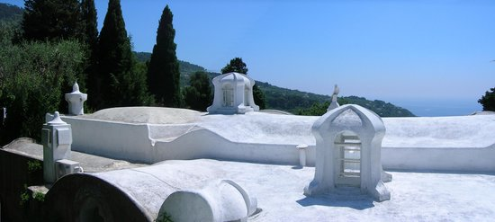 Capri, Italien: Typical roof of a mediterranean house