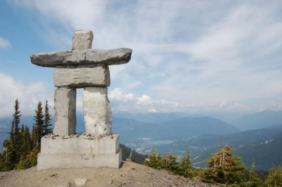 Vancouver, Canada: Inukshuk - Inuit cultural symbol shown on the flag and Coat of Arms of the Canadian territory of