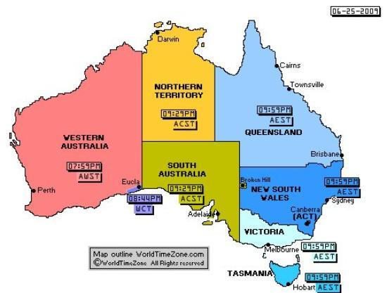 Australia Map Time Zones.Australian Time Zone Boundary Lines I Ve Been To South Australia