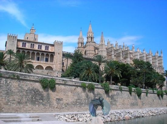 Palma - Palau de l'Almudaina, the 11th century palace of the Moorish emirs of Medina Mayurka, an