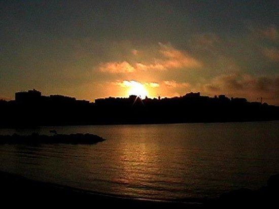 Dalt Vila : This is the view of the sun rising over the old part of Ibiza Town.