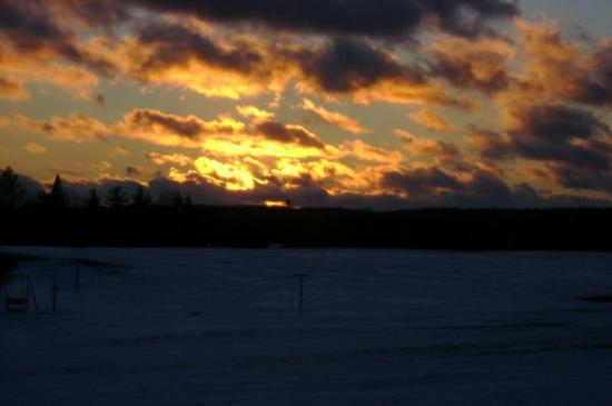 West Branch, MI: a sunset view from my house. =]