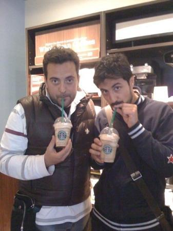 Starbucks: ...frappuccino caramel with whipped cream...!!