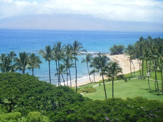 The view from Marriott Wailea -- Ulua Beach.