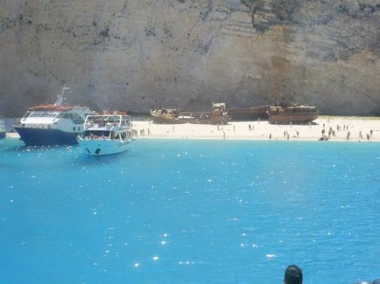 Strand von Navagio: SPIAGGIA DEL RELITTO....ZAKYNTHOS....GRECIA