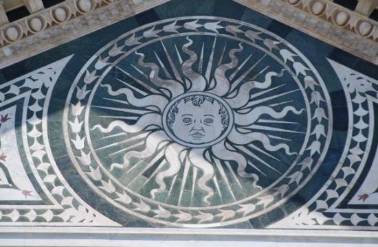 Basilica di Santa Croce: Detail from the facade of Santa Croce, Florence, Tuscany, Italy.