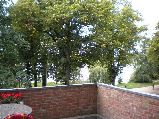 Hotel Alsterblick: Zi. 17 mit Terrasse und Blick auf die Aussenalster