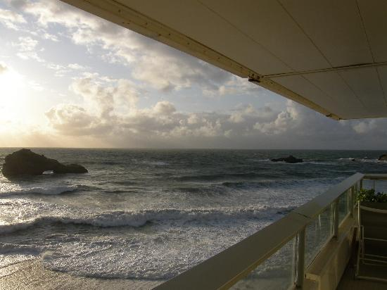 Sofitel Biarritz Le Miramar Thalassa sea & spa : view from balcony - 2