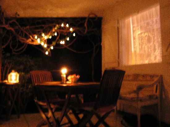 Senteur Vanille : terrasse