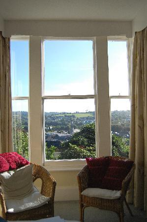 Tremont Bed & Breakfast: View of Lostwithiel from the bedroom