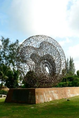 Huge bronze sculpture at the tsunami memorial park, Kamala Beach.