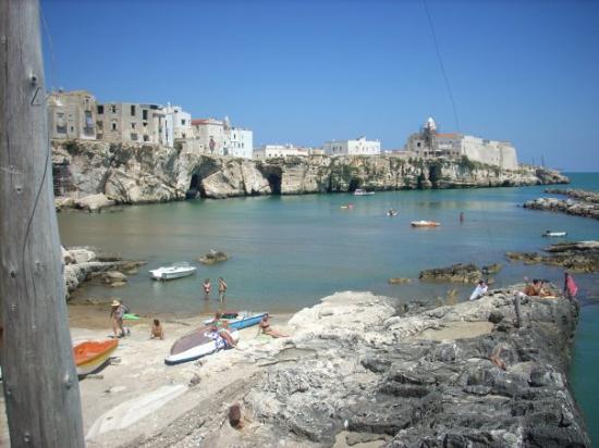 Vieste, Italien: Un  albergo in paese e una conca artificiale visibile dal trabucco
