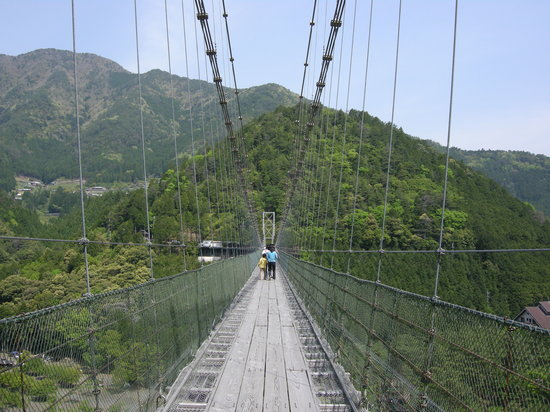 Totsukawa-mura, Japón: 10メートルほど進んでみると・・・。