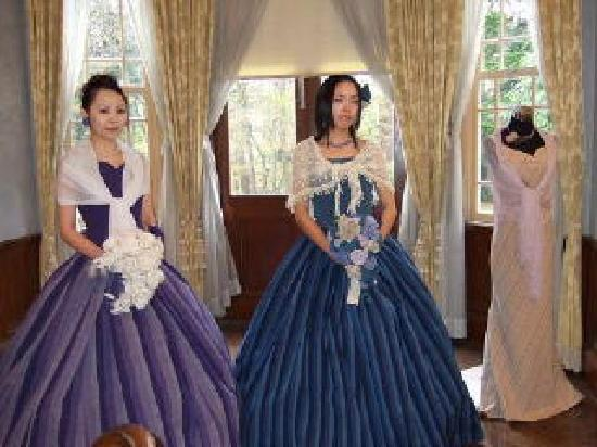 Inawashiro-machi, Japan: 会津木綿のドレス3着