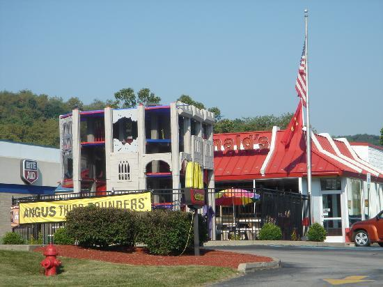 Holiday Inn Express Bentleyville: McDonald's Across from Entrance Drive