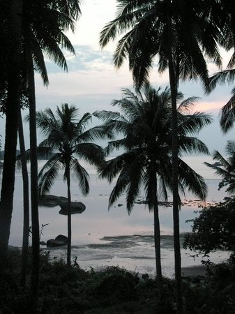 Bintan Island, Indonésie : The view from the terrace of our villa.