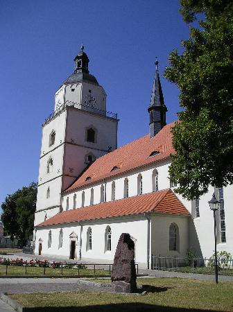 Barby, Jerman: die Marienkirche in der Stadtmitte