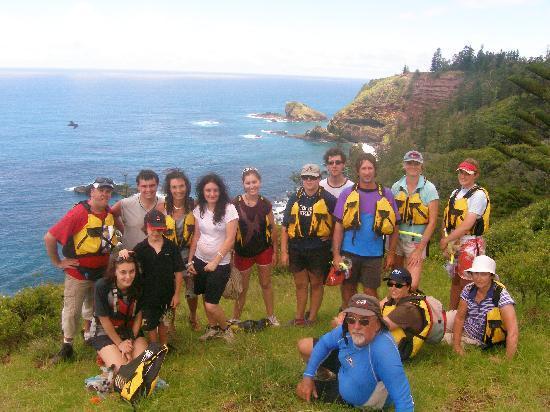 Norfolk Island, Australia: Another happy kayaking group