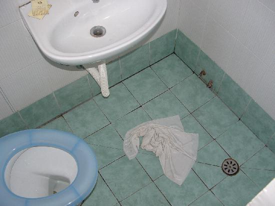 Adre Bed & Breakfast: El baño!!! horror!!! cuando te duchas mojas basija, lavamanos, etc Un asco.