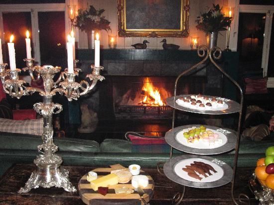 Huka Lodge: the dessert room