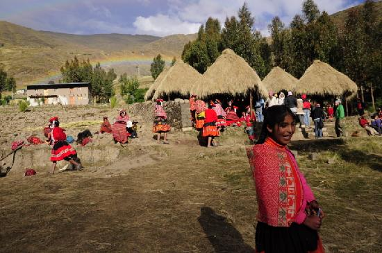 Ollantaytambo, เปรู: The weaveing center in Patacancha, constructed by community members with the support of Awamaki