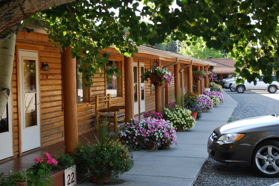 Rainbow Valley Lodge: Parking Area And Patio Flowers
