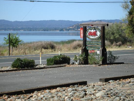 Featherbed Railroad Bed & Breakfast Resort: View from porch of Orient Express caboose