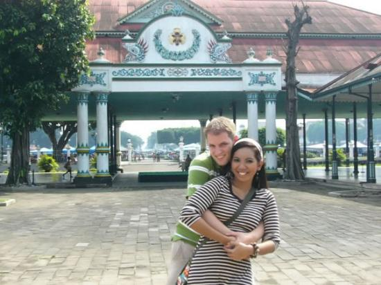 Yogyakarta Palace: We enjoyed Keraton so much! :-D Thanks to the guide. Hehe.. :-)