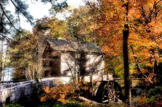 Atlanta, Geórgia: The Grist Mill at Stone Mountain