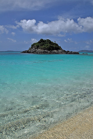 Virgin Islands National Park, Σεν Τζον: The snorkel area of Trunk Bay