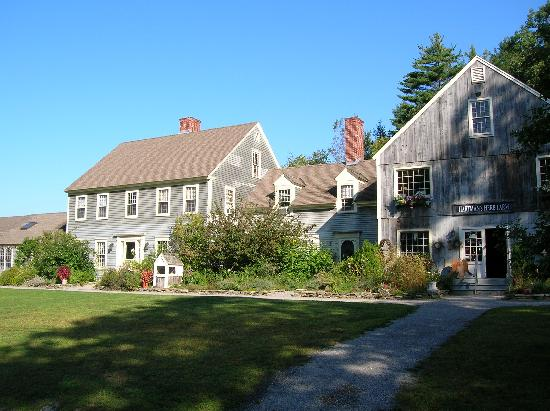 Hartman's Herb Farm Bed & Breakfast: The B&B and gift shop buildings
