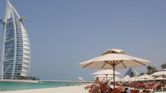 Private Hotel Beach View To Burj Al Arab Bild Von Burj