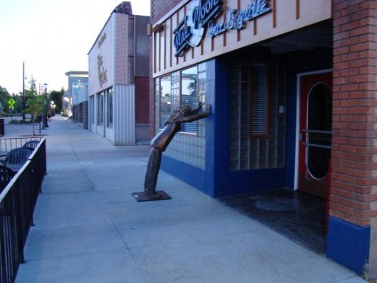 This is a sculpture outside of a club in downtown Grand Junction.