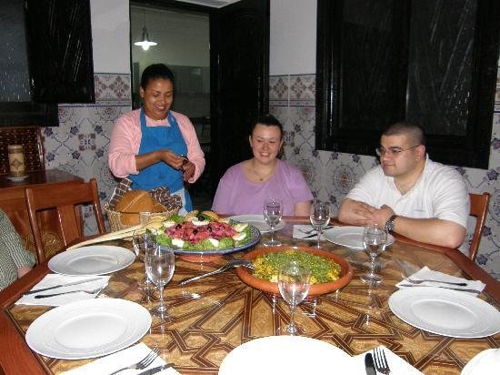 Inezgane, Maroc : my sister, her boyfriend and Aicha